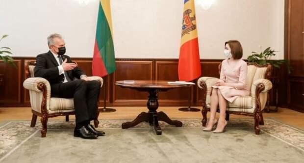 Президент Литвы посоветовал Санду укрепить сотрудничество Молдавии сНАТО