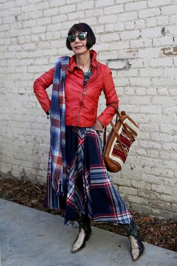 Street Style для бабушек пожилых мода