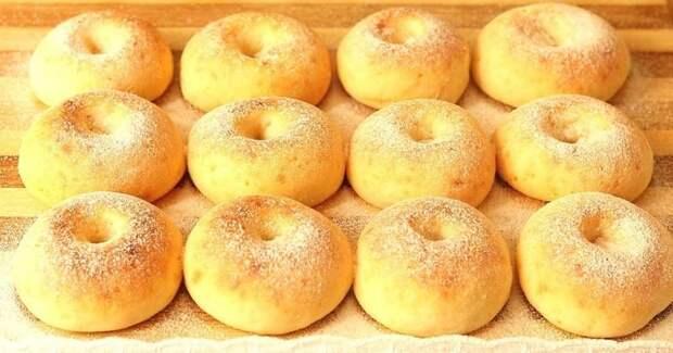 Идеально  Пышные пончики без капли жира и дрожжей