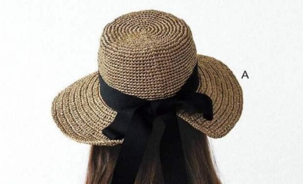 как связать шляпу