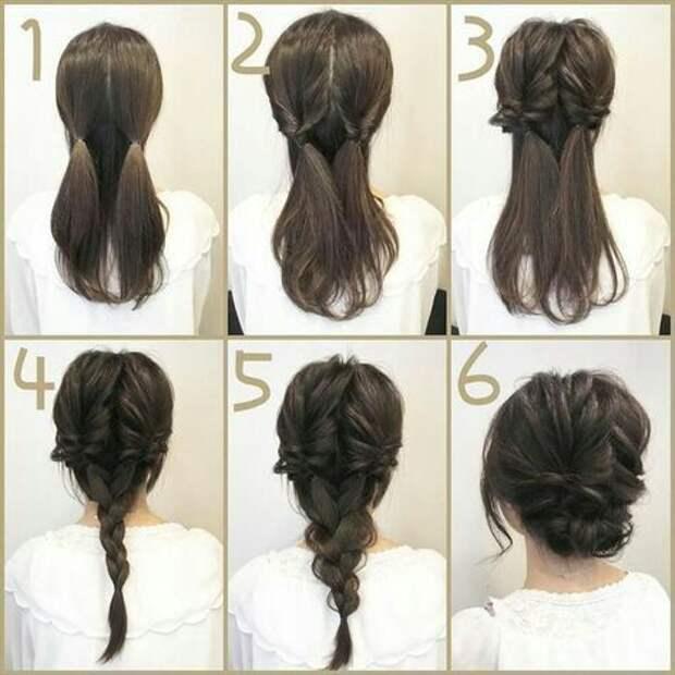 Японская укладка с косами