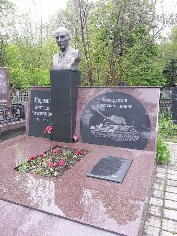 Памятник Александру Морозову на его могиле в Харькове