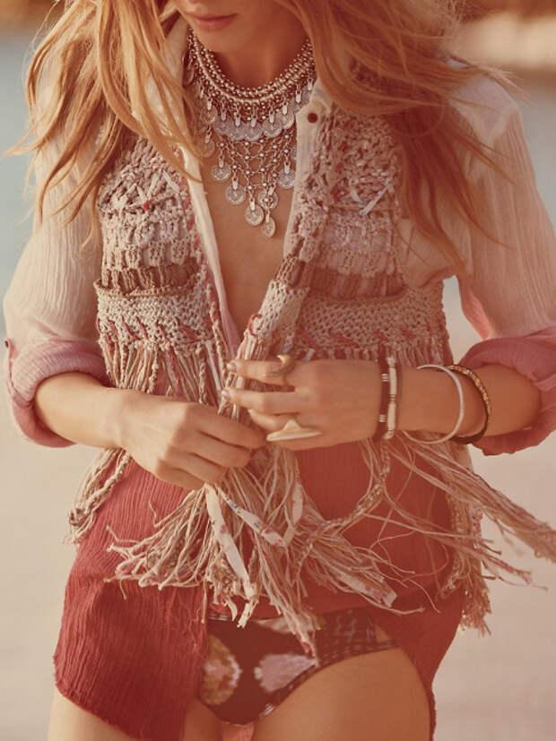 Подборка вязаного бохо