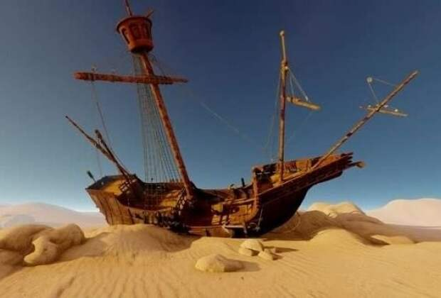 Загадка найденных в пустыне морских кораблей