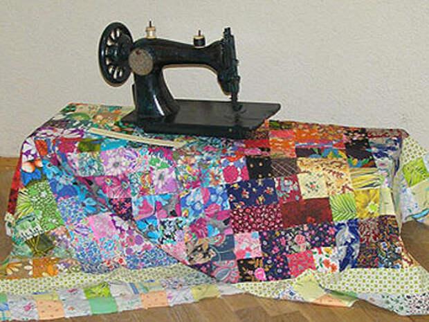 Круг - шаблон для сборки лоскутных изделий. Шьем одеяло, сумку, подушку