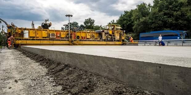 цементобетонная дорога в Германии