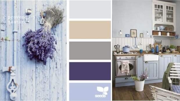 цвет в интерьере кухни в стиле прованс