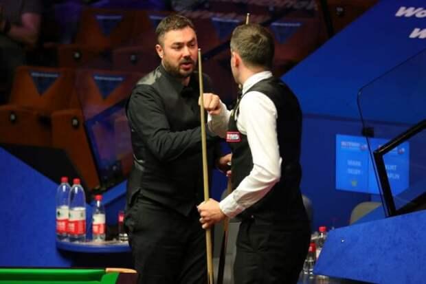 Курт Мафлин и Марк Селби (фото: World Snooker)