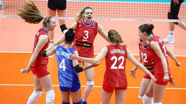 Россиянки разгромили Италию в матче 4-го тура Лиги наций