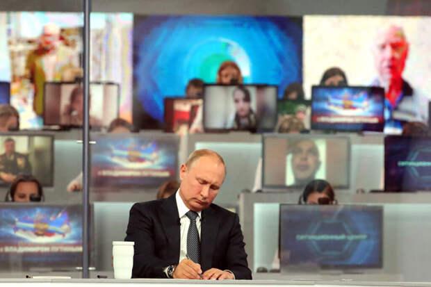 Названы самые популярные вопросы россиян Путину