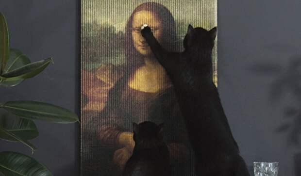 Мона Лиза для кошек, от Эрика Стеймана (Eric Stehmann)