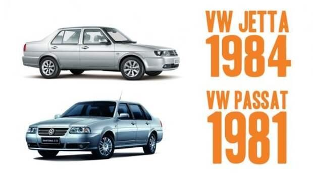 10) Volkswagen Jetta (2-го поколения, 1984) и Volkswagen Passat (2-го поколения, 1981) авто, история, факты