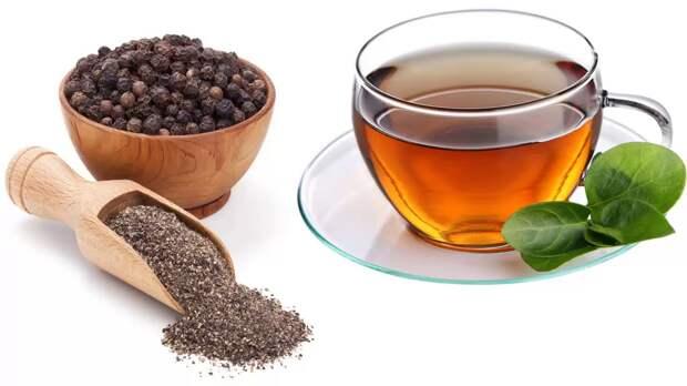 Чай с черным перцем не только повышает иммунитет, но и способствует похуданию.