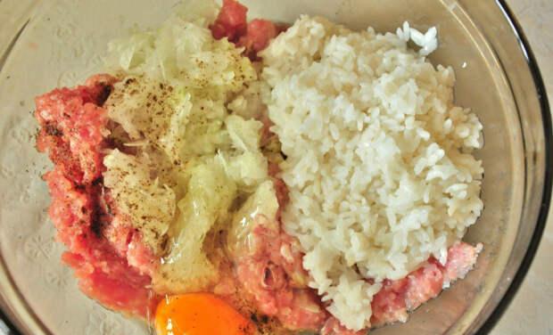 тефтели из фарша с рисом