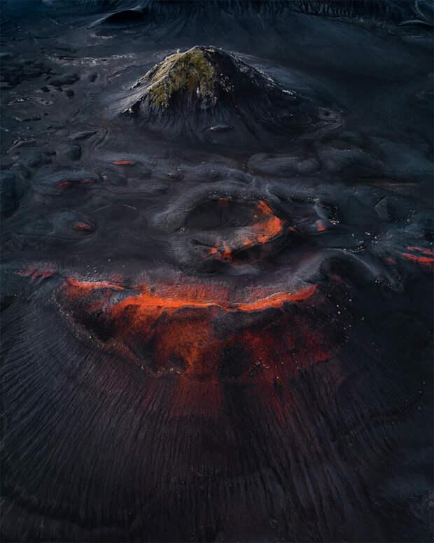 Вымершие кратеры Исландского плато