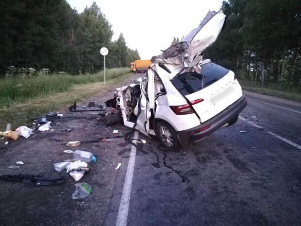 Водитель «Шкоды» погиб в аварии с фурой под Воткинском