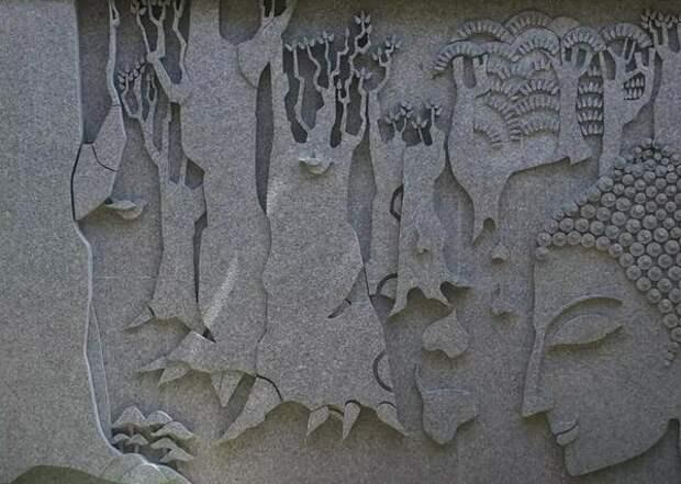 Декоративное панно из ЦСП. Фото с сайта creativeinstincts.in