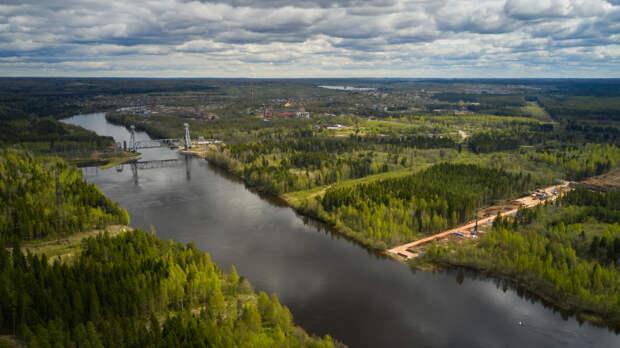 Стройка моста через Свирь в Подпорожье