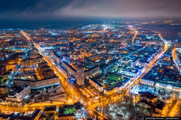 Архангельск с высоты — столица Русского Севера