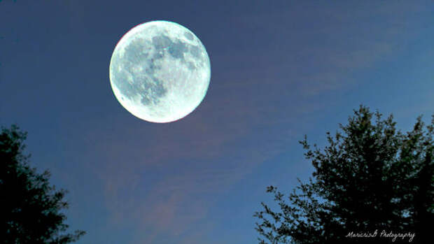 В небе над Башкирией взошла Голубая Луна