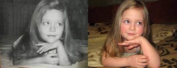 8. Мать (слева, 1980) и дочь (справа, 2014). отцы и дети, прикол, фото