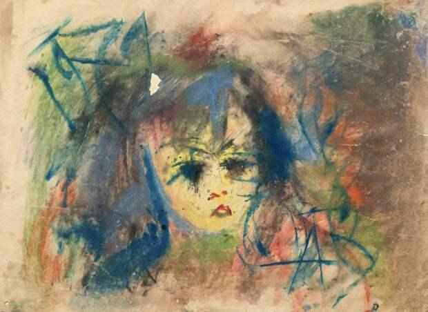 Зверев Анатолий . Портрет Насти -  Art4.ru, коллекция современного искусства
