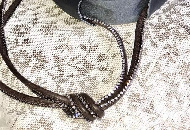 Воротничок с кожаным колье Brunello Cucinelli
