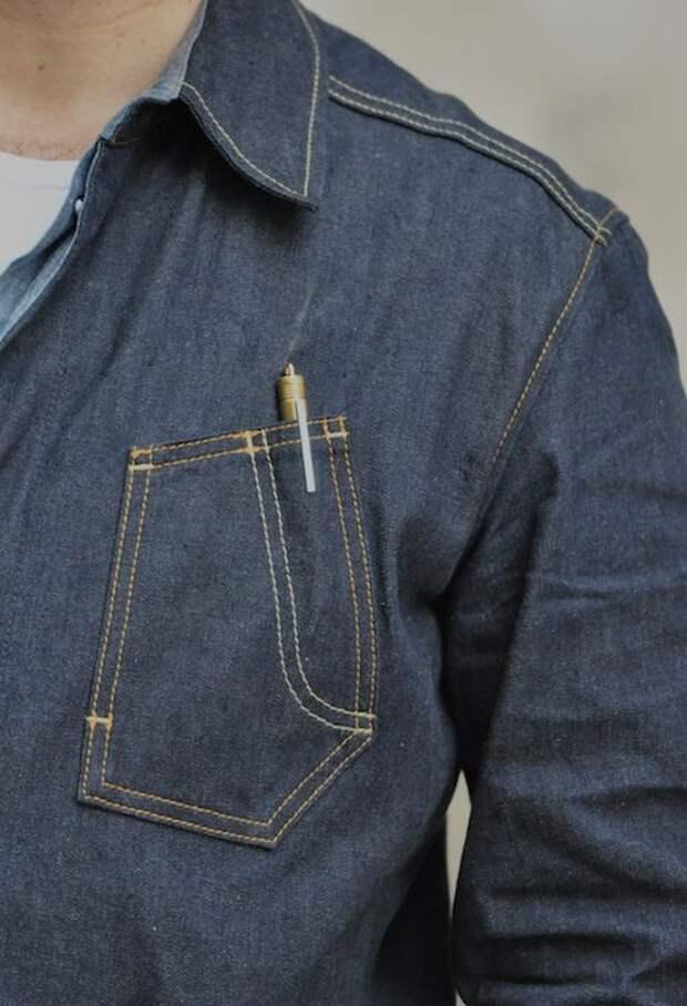 Карманы мужских рубашек