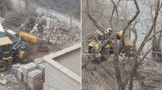Вываливавший строительный мусор в Иртыш оштрафован в Павлодаре