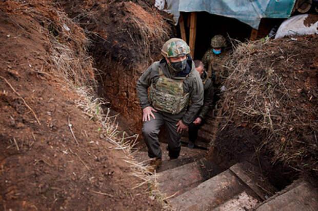 Зеленский предложил отправлять политиков по очереди на передовую в Донбасс