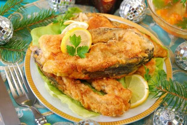 Жареная рыба без масла