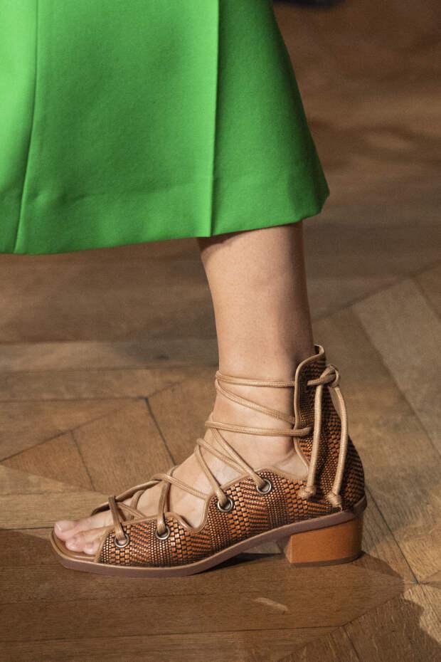 Обувь сезона весна-лето 2020: вьетнамки, вязаные сапоги и «мамины мюли» (фото 18)
