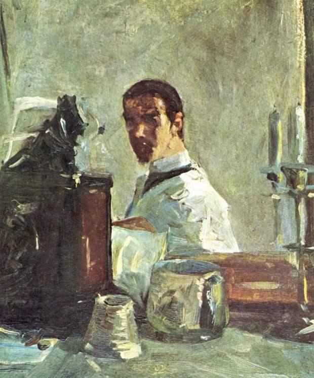 Автопортрет перед зеркалом - Анри де Тулуз-Лотрек