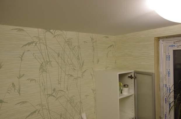 Как я делал натяжной потолок на кухне натяжные потолки, потолок, ремонт