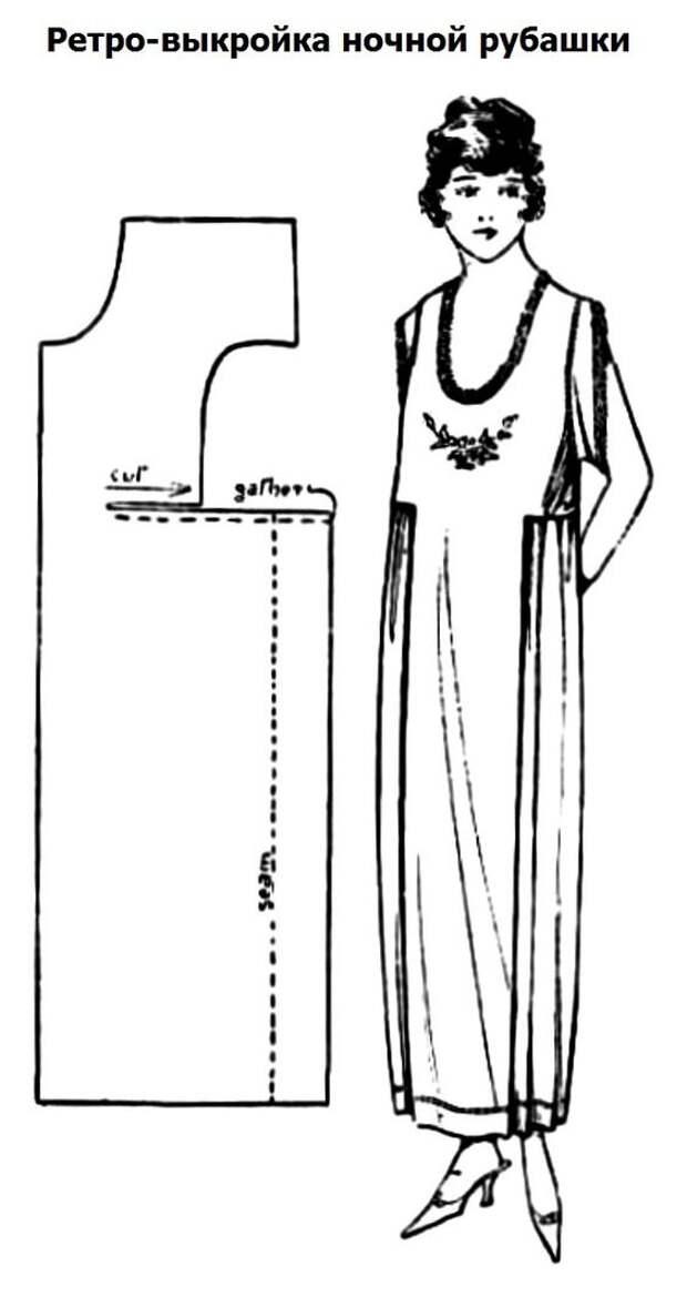 Простая выкройка платья 20-х годов