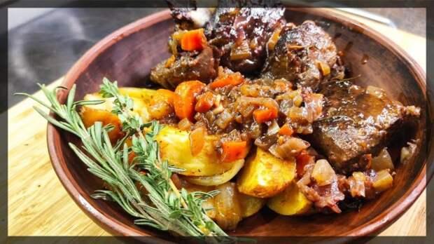 Мясо с овощами без жарки