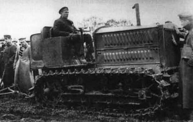"""Трактор """"Холт-40"""" на испытаниях, 1924 год"""