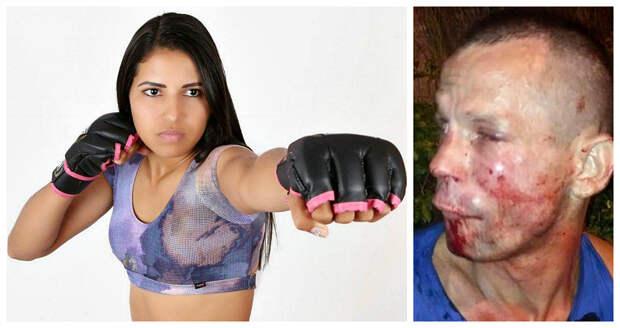 Грабитель напал на девушку из UFC и получил достойный отпор