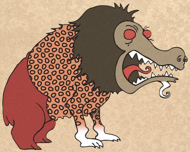 Амат, пожиравший души грешных египтян, изображался как помесь гиппопотама, льва и крокодила.