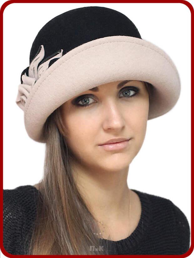 Элегантная двухцветная шляпа