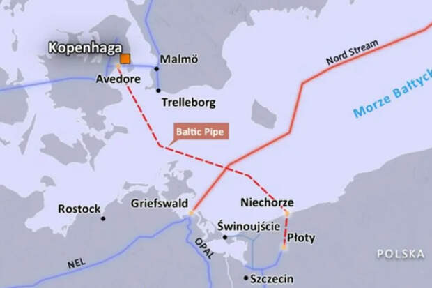 Польша валяется в ногах у Дании, умоляя разрешить Baltic Pipe