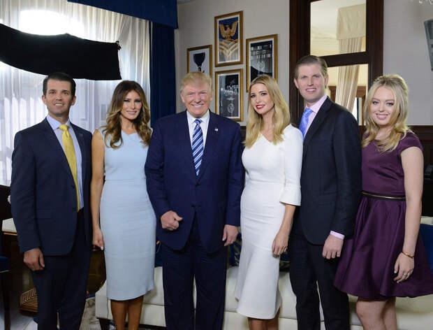 Дональд Трамп с детьми