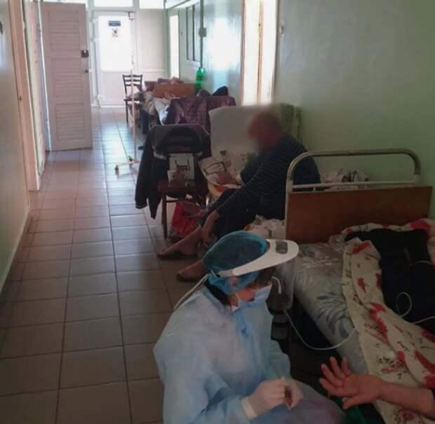 Коронавирусная больница в Николаеве в марте 2021