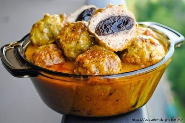 """Индийские куриные тефтели с черносливом - добротное, сытное, вкусное блюдо """"с изюминкой!"""""""