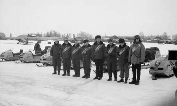 Первый советский снегоход «Буран»