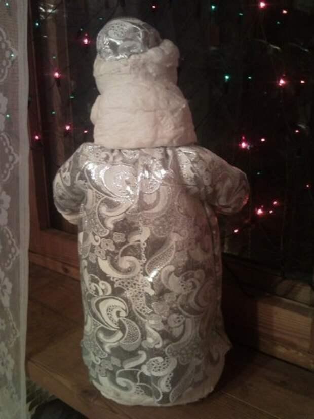 Реставрация ватного Деда Мороза
