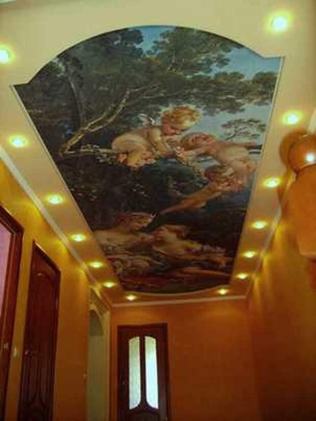 натяжной потолок с фотопринтом
