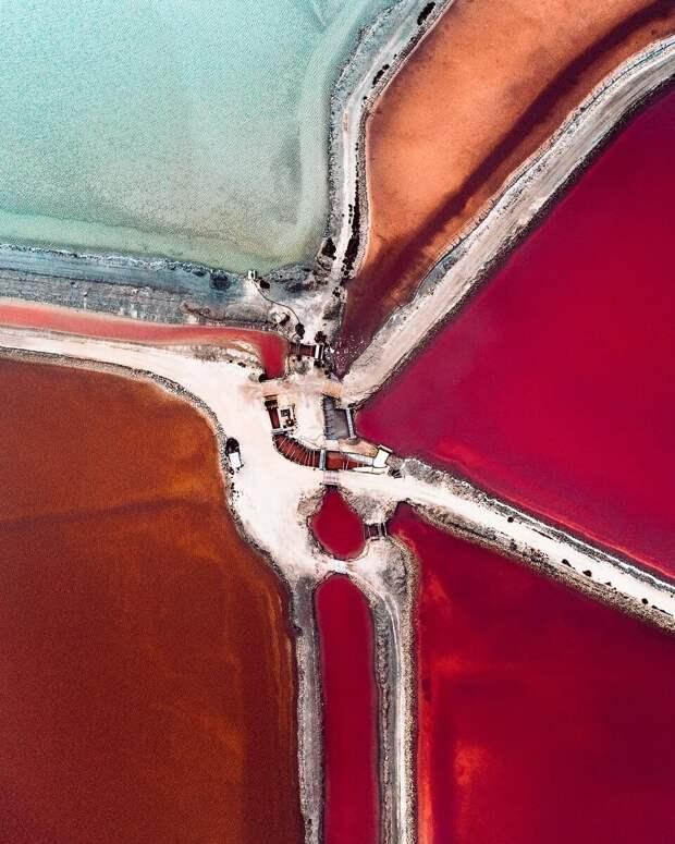 Площадка по производству соли на юге Европы