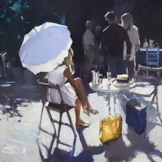 Художник David Farrant. Игра света и тумана