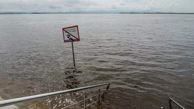 Уровень воды в реке у Комсомольска-на-Амуре достиг 727 см